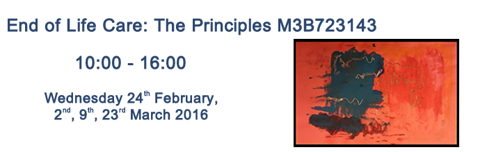 End of Life Care: The Principles M3B723143 Course